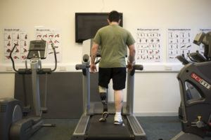 A soldier with a prosthetic leg is pictured at the Personnel Recovery Centre in Edinburgh. Image: Sgt Ian Forsyth RLC